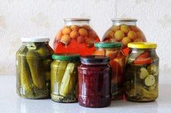 Conservas alimentares da casa Imagens de Stock