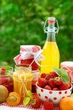 Conservas das frutas Fotos de Stock Royalty Free