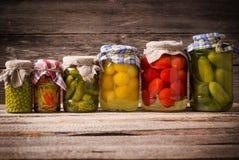 Conservas vegetais fotografia de stock royalty free