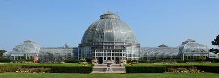 Conservatório de Scripps Whitcomb em Belle Isle em Detroit foto de stock