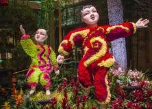 Conservatório do hotel de Bellagio & jardins botânicos Foto de Stock