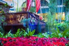 Conservatório do hotel de Bellagio & jardins botânicos Fotos de Stock