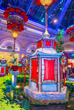 Conservatório do hotel de Bellagio & jardins botânicos Fotografia de Stock Royalty Free