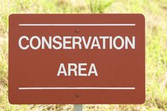 Conservation area. sign. conservation area sign Stock Image