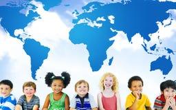 Conservation environnementale globale Conce de carte du monde de mondialisation Photographie stock