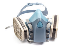 Conservation-Restoration Professional use Gas Mask isolated on w. Hite Royalty Free Stock Photography