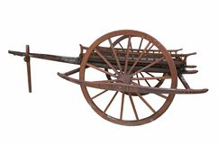 Conservative ancient cart with beautiful pattern. On white background royalty free stock photography