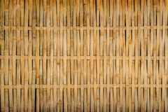 Conservative Bamboo Woven Pattern Texture Background. Rustic Han. Dmade Wooden Design royalty free stock image
