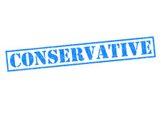 CONSERVATIVE. Blue Rubber Stamp over a white background Royalty Free Stock Images
