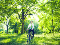 Conservative Businessman with Natural Environment.  stock photo