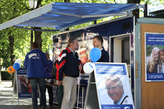 Conservative Party campaign stand Royalty Free Stock Images