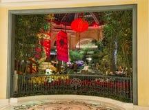 Conservatoire d'hôtel de Bellagio et jardins botaniques Photo libre de droits