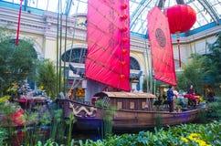 Conservatoire d'hôtel de Bellagio et jardins botaniques Photos libres de droits