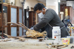 Free Conservator Working On Specimens Stock Photography - 70193992