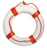 Conservatore di vita con la corda rossa Fotografie Stock