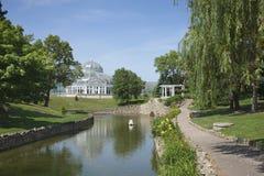 Conservatorio del parco di Como su un pomeriggio luminoso di estate Fotografia Stock