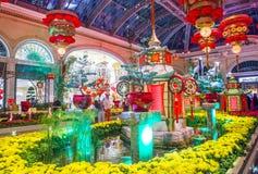 Conservatorio dell'hotel di Bellagio & giardini botanici Immagini Stock
