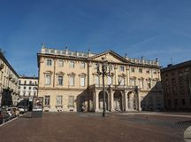 Conservatorio Verdi en Turín Foto de archivo