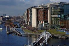 Conservatorium och offentligt bibliotek av Amsterdam, Nederländerna Fotografering för Bildbyråer