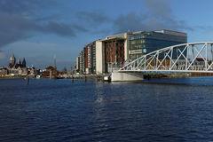 Conservatorium y biblioteca pública de Amsterdam, Países Bajos Foto de archivo libre de regalías