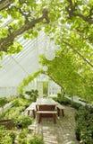 conservatory cosy парник стоковое изображение
