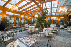 conservatory dining room στοκ φωτογραφία