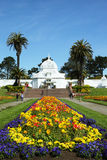 The Conservatory of Flowers building at the Golden Gate Park in San Francisco Stock Images