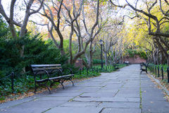 Conservatory garden is the only formal garden in Central Park Stock Images