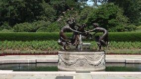 Conservatory Garden Fountain stock footage