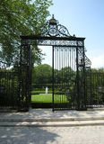 Conservatory Garden NYC. Vanderbilt gate view of Central Park in NYC royalty free stock images
