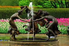 Conservatory Gardens in New York's Central Park Stock Image