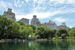 Conservatory Water, Central Park Royalty Free Stock Photo