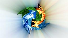 Conservazione ambientale, riciclante concetto, ciclo, metraggio di riserva illustrazione vettoriale