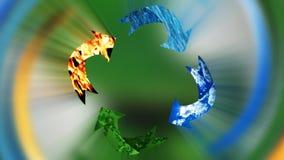 Conservazione ambientale, riciclante concetto, ciclo, metraggio di riserva royalty illustrazione gratis