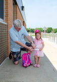 Conservazione del vostro sicuro per i bambini alla scuola Fotografia Stock