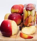 Conservazione delle mele Fotografie Stock