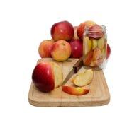 Conservazione delle mele Fotografia Stock Libera da Diritti