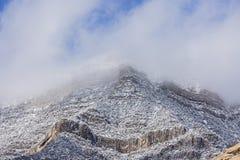 Conservazione rossa del cittadino della montagna della roccia Fotografie Stock