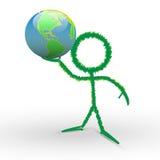 conservazione umana 3d il mondo a disposizione Fotografia Stock