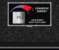 Conserve al tablero de publicidad de la energía stock de ilustración