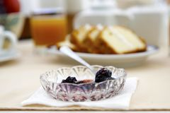 Cherry Conserve. Conserve cherry flavor served in breakfast Royalty Free Stock Photos