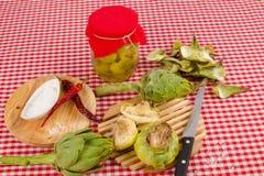 Conserve d'artichaut image stock