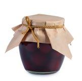 Conserve de fruits dans le choc en verre. photos stock