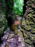 Conserve de nature géologique de région de Bourbonnais Photographie stock