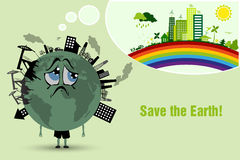Conserve the earth Stock Photo