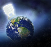 Conserve Earths Energy. Concept of saving the earth through environmentally wise decisions Royalty Free Stock Photography