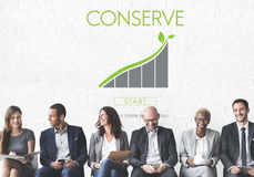 Conserve Ecology Environmental Preservation Concept. People Discuss Conserve Ecology Environmental Preservation Stock Image