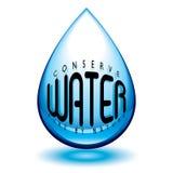 Conserve el agua stock de ilustración