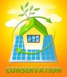 Conserve el ejemplo natural de la preservación 3d de las demostraciones de la casa ilustración del vector