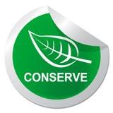 Conserve el ejemplo natural de la preservación 3d de las demostraciones de la etiqueta engomada libre illustration